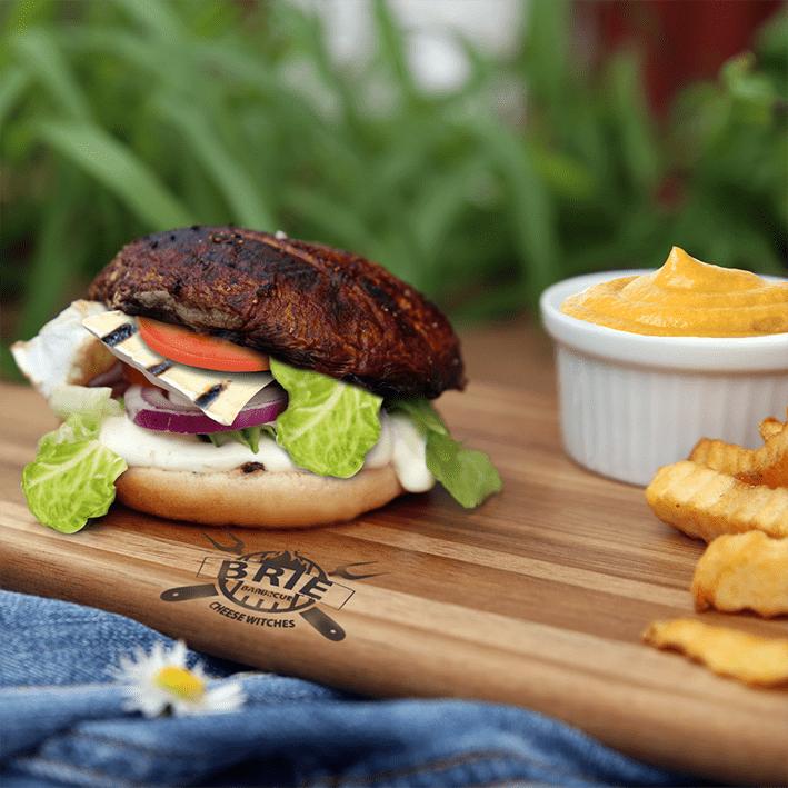 Portobello burgerit grillatulla briellä