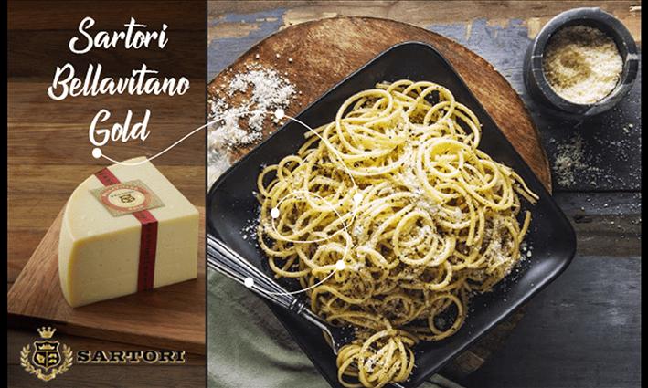 Kiireisen Spagetti by Sartori® Bellavitano Gold